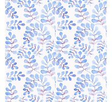 Abstract floral pattern with hand-drawn watercolor elements. Photographic Print