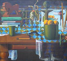 The Table, oil on canvasboard, 1998. by fiona vermeeren