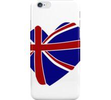 Great Britain Heart shape iPhone Case/Skin