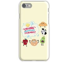"""Crying"" Breakfast Friends! // Steven Universe iPhone Case/Skin"