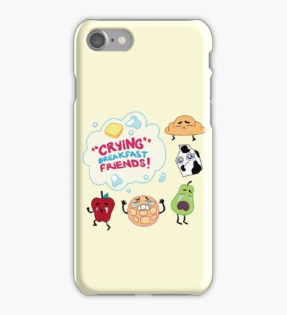 """Crying"" Breakfast Friends! // Steven Universe iPhone Case/Skin"