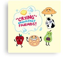 """Crying"" Breakfast Friends! // Steven Universe Canvas Print"