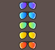 Flash Lens Sunglasses Unisex T-Shirt