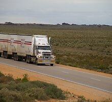 Roadtrain on Eyre Hwy, South Australia by BigAndRed