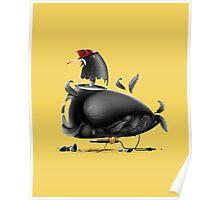 Street Pigeon Poster