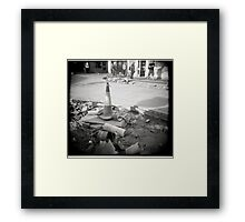 Buried Gas Framed Print