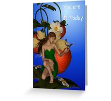 You are 6 birthday card Greeting Card