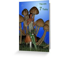 You are 7 birthday card Greeting Card