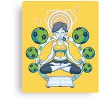 Get Fit - Yellow Canvas Print