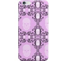 Skulls and pink, with damask iPhone Case/Skin
