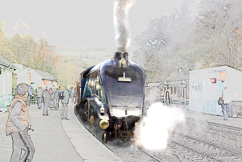 Sir Nigel Gresley at Grosmont by Trevor Kersley