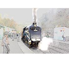 Sir Nigel Gresley at Grosmont Photographic Print