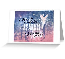 Leave a Little Sparkle Wherever You Go Greeting Card