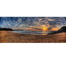 A Sky To Die For - Warriewood Beach, Sydney ( 35 Exposure HDR Panorama) - The HDR Experience Photographic Print