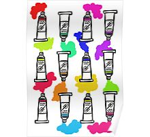 Paint Tubes Poster