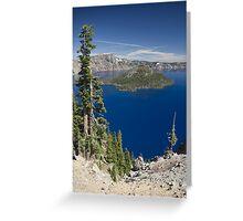 Wizard Island, Crater Lake Greeting Card