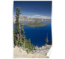Wizard Island, Crater Lake Poster