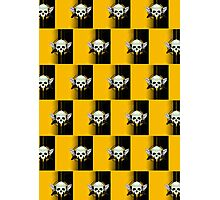 Wing Skull - YELLOW (Pattern 2) Photographic Print