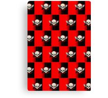 Wing Skull - RED (Pattern )2 Canvas Print