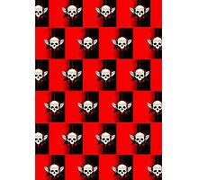 Wing Skull - RED (Pattern )2 Photographic Print