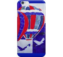 Hot Air Balloon Red White and Blue by Heather Holland iPhone Case/Skin