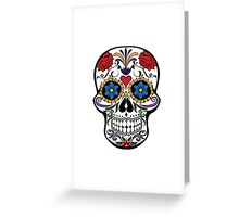 Floral happy sugar skull Greeting Card