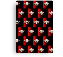 Wing Skull - RED (Pattern) Canvas Print