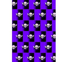 Wing Skull - PURPLE (Pattern 2) Photographic Print