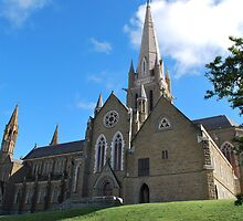 Sacred Heart Cathedral, Side View by Lozzar Landscape