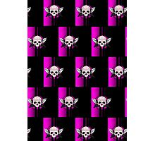 Wing Skull - PINK (Pattern) Photographic Print