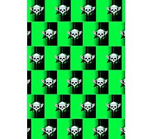 Wing Skull - GREEN (Pattern 2) Photographic Print