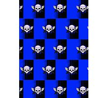 Wing Skull - BLUE (Pattern 2) Photographic Print
