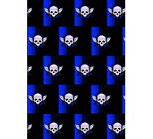 Wing Skull - BLUE (Pattern) Photographic Print