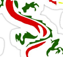 Plethora of Coloured Dragons Sticker