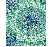 Emerald Doodle Photographic Print