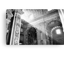 Shining Through The Vatican Canvas Print