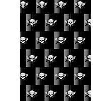 Wing Skull - BLACK & WHITE (Pattern) Photographic Print
