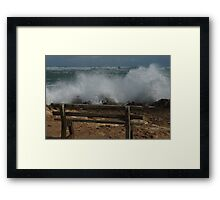 Seat with a view. Framed Print