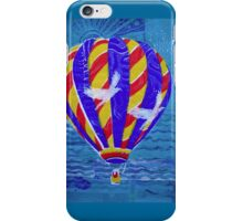 Hot Air Balloon with White  Birds 2 by Heather Holland iPhone Case/Skin