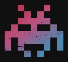 Space Invader pink/blue by buud