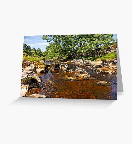 River Wharfe in Langstrothdale Greeting Card