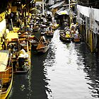 Yellow Floating Market, Thailand by Tim Topping