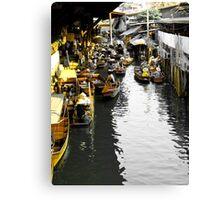 Yellow Floating Market, Thailand Canvas Print