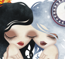 Emma & Gemma (Gemini) ~ Zodiac Series  Sticker