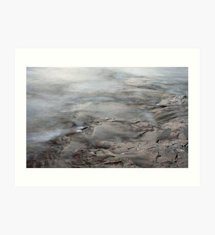 Textures Of Lake Superior Art Print