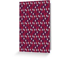 Small Flowers in Maroon Greeting Card