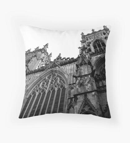 York Minster in Black & White Throw Pillow