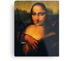 Smirking Mona Metal Print