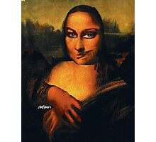 Smirking Mona Photographic Print