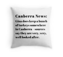 Gina's Canberra Turkeys Throw Pillow